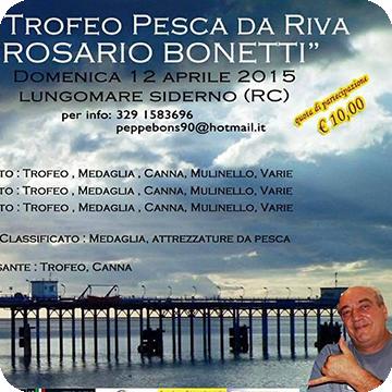 """1° Trofeo Pesca da Riva """"Rosario Bonetti"""""""