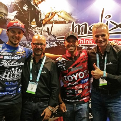 Pro Anglers Mike Iaconelli & Carl Jocumsen with Molix Staff